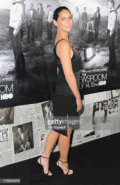 Actress Olivia Munn arrives at HBO's Season 2 Premiere Of The Newsroom at Paramount Theater on the Paramount Studios lot on July 10 2013 in Hollywood...