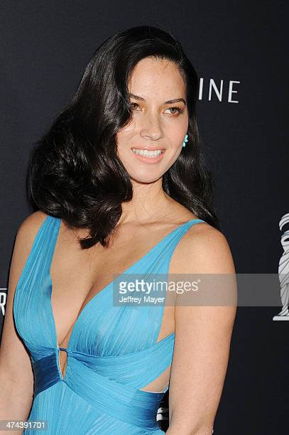 Actress Olivia Munn arrives at the 16th Costume Designers Guild Awards at The Beverly Hilton Hotel on February 22 2014 in Beverly Hills California