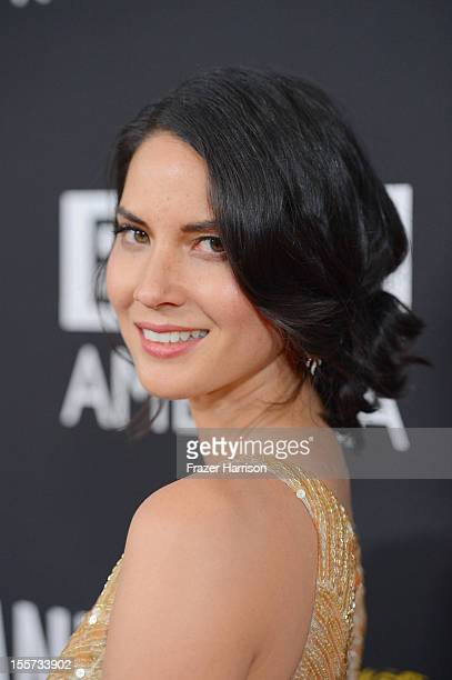 Actress Olivia Munn arrives at the 2012 BAFTA Los Angeles Britannia Awards Presented By BBC AMERICA at The Beverly Hilton Hotel on November 7 2012 in...