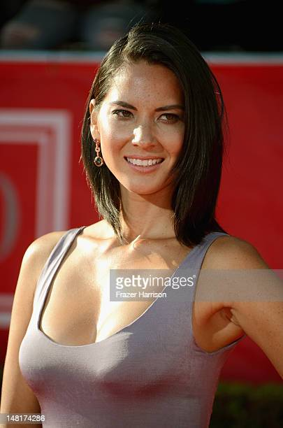 Actress Olivia Munn arrives at the 2012 ESPY Awards at Nokia Theatre LA Live on July 11 2012 in Los Angeles California