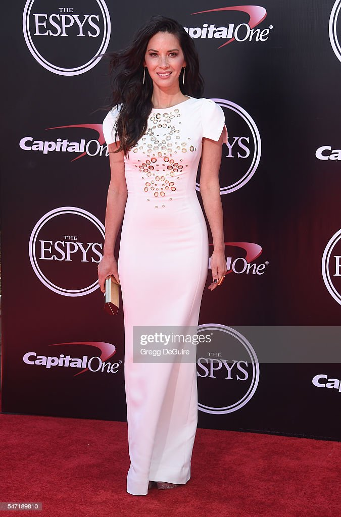 Actress Olivia Munn arrives at The 2016 ESPYS at Microsoft Theater on July 13, 2016 in Los Angeles, California.