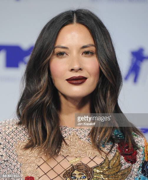 Actress Olivia Munn arrives at the 2017 MTV Video Music Awards at The Forum on August 27 2017 in Inglewood California