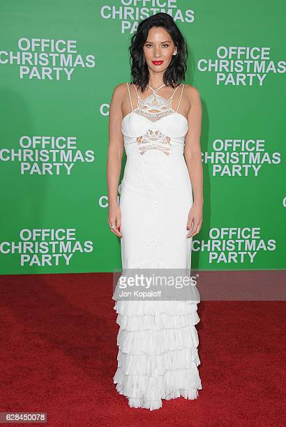Actress Olivia Munn arrives at the Los Angeles Premiere 'Office Christmas Party' at Regency Village Theatre on December 7 2016 in Westwood California