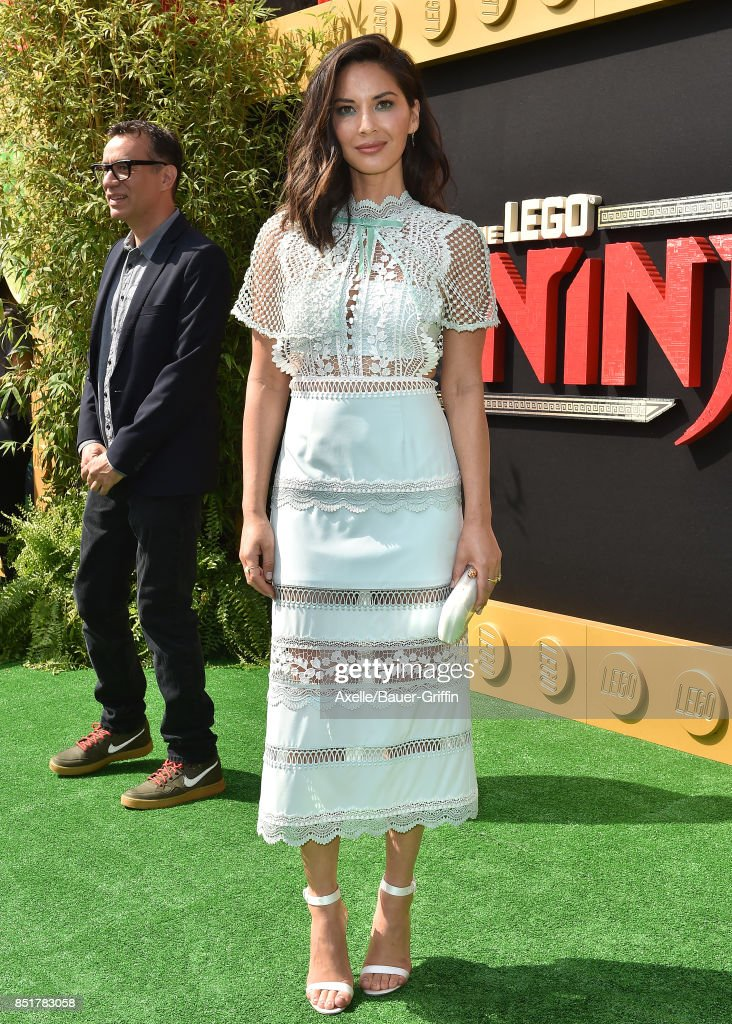 Actress Olivia Munn arrives at the premiere of 'The LEGO Ninjago Movie' at Regency Village Theatre on September 16, 2017 in Westwood, California.