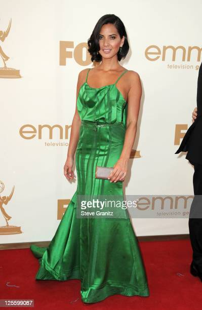 Actress Olivia Munn arrives to the 63rd Primetime Emmy Awards at the Nokia Theatre LA Live on September 18 2011 in Los Angeles United States