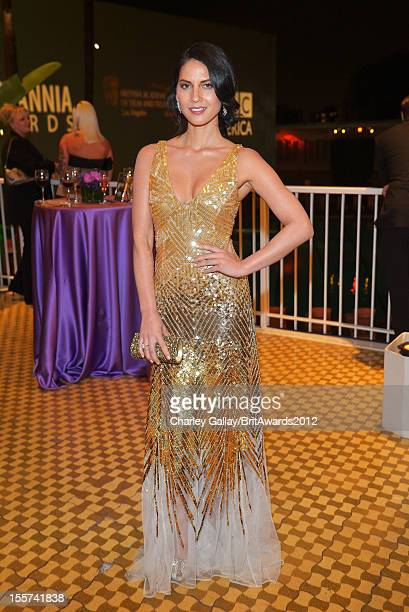 Actress Olivia Munn attends a reception at the 2012 BAFTA Los Angeles Britannia Awards Presented By BBC AMERICA at The Beverly Hilton Hotel on...