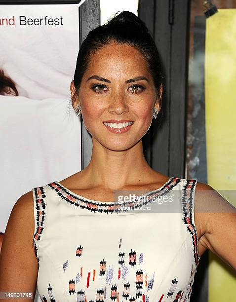 "Actress Olivia Munn attends a special screening of Millennium Entertainment's ""The Babymakers"" at the Silent Movie Theatre on July 24, 2012 in Los..."