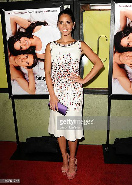 Actress Olivia Munn attends a special screening of Millennium Entertainment's 'The Babymakers' at the Silent Movie Theatre on July 24 2012 in Los...