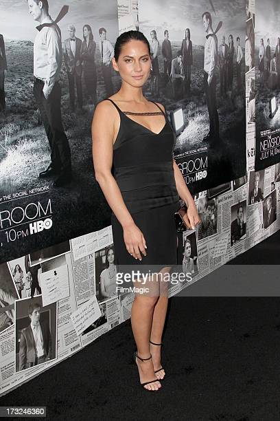 Actress Olivia Munn attends HBO's 'The Newsroom' season 2 premiere at Paramount Studios on July 10 2013 in Hollywood California