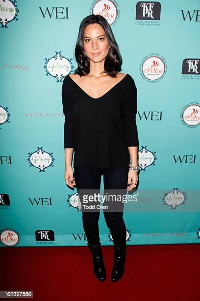 Actress Olivia Munn attends Kari Feinstein's PreAcademy Awards Style Lounge at W Hollywood on February 22 2013 in Hollywood California