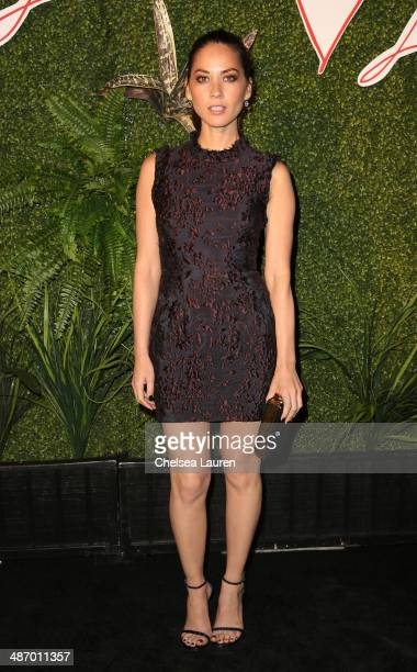 Actress Olivia Munn attends Lanvin And Living Beauty Host An Evening Of Fashion on April 26 2014 in Beverly Hills California