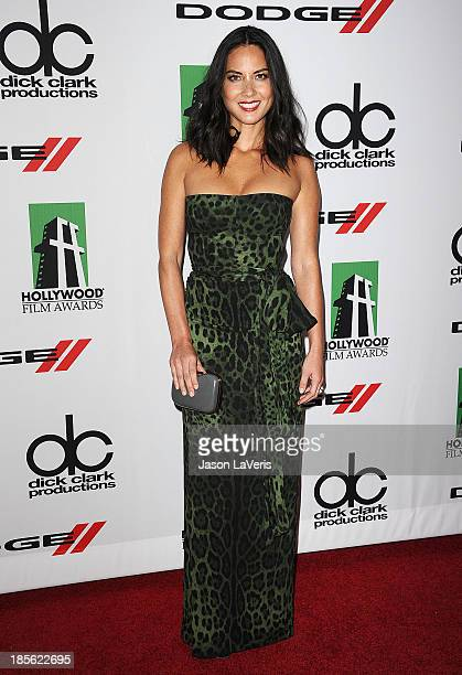 Actress Olivia Munn attends the 17th annual Hollywood Film Awards at The Beverly Hilton Hotel on October 21 2013 in Beverly Hills California