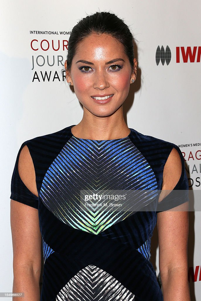 Actress Olivia Munn attends the 2012 International Women's Media Foundation's Courage In Journalism Awards at The Beverly Hills Hotel on October 29, 2012 in Beverly Hills, California.