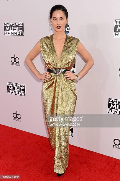 Actress Olivia Munn attends the 2014 American Music Awards at Nokia Theatre LA Live on November 23 2014 in Los Angeles California