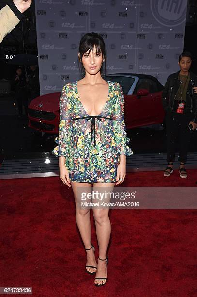 Actress Olivia Munn attends the 2016 American Music Awards Red Carpet Arrivals sponsored by FIAT 124 Spider at Microsoft Theater on November 20 2016...