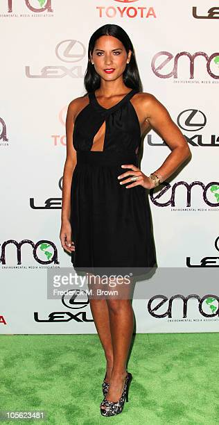 Actress Olivia Munn attends the 20th annual Enviornmental Media Association Awards at Warner Brothers Studios on October 16 2010 in Burbank California