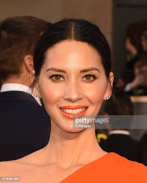 Actress Olivia Munn attends the 88th Annual Academy Awards at Hollywood Highland Center on February 28 2016 in Hollywood California