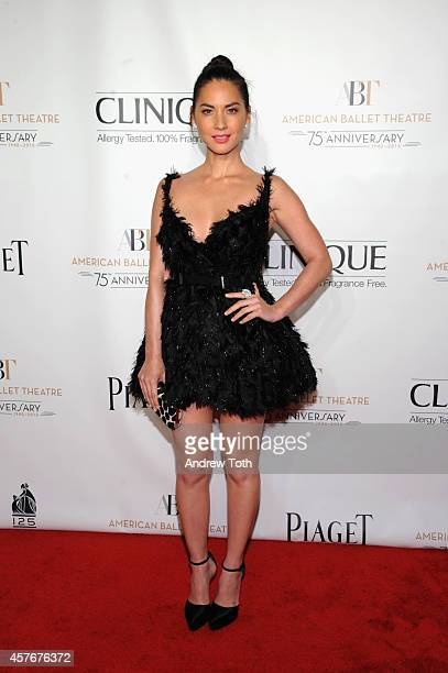 Actress Olivia Munn attends the American Ballet Theatre 2014 Opening Night Fall Gala at David H Koch Theater at Lincoln Center on October 22 2014 in...