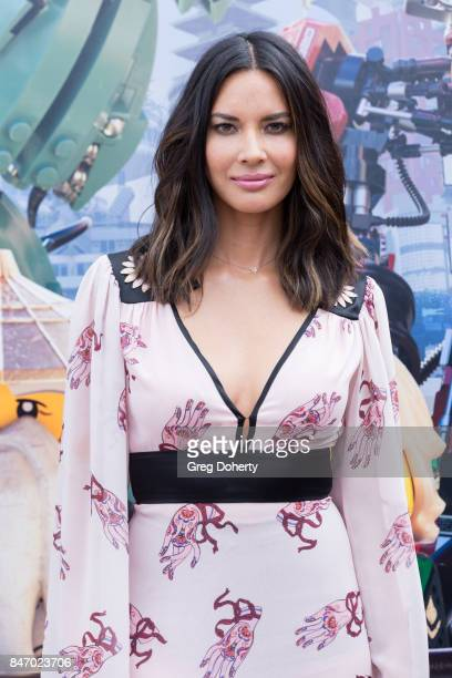 Actress Olivia Munn attends the Cast Photo Call For Warner Bros Pictures' 'The LEGO Ninjago Movie' at LEGOLAND on September 14 2017 in Carlsbad...