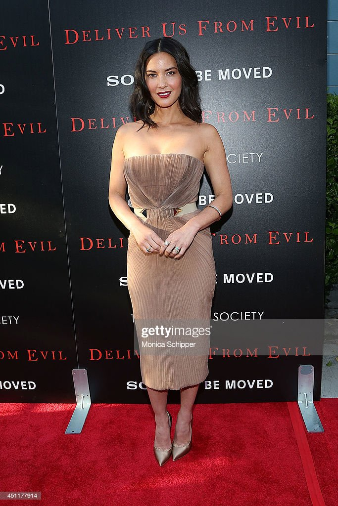 Actress Olivia Munn attends the 'Deliver Us From Evil' screening hosted by Screen Gems & Jerry Bruckheimer Films with The Cinema Society at SVA Theater on June 24, 2014 in New York City.