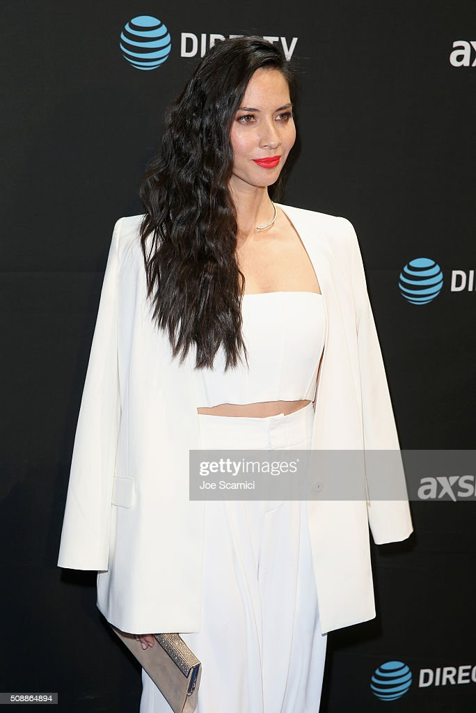 Actress Olivia Munn attends the DirecTV and Pepsi Super Saturday Night featuring Red Hot Chili Peppers at Pier 70 on February 6, 2016 in San Francisco, California.
