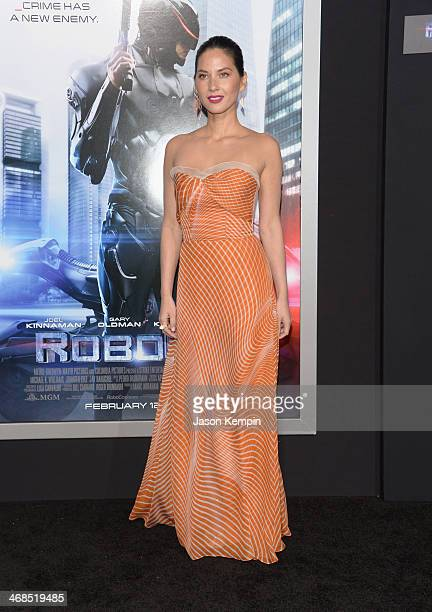 Actress Olivia Munn attends the premiere of Columbia Pictures' Robocop on February 10 2014 in Hollywood California