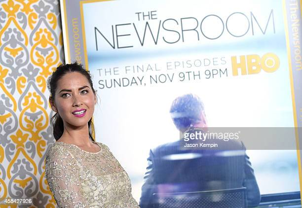 Actress Olivia Munn attends the premiere of HBO's Newsroom Season 3 at Directors Guild Of America on November 4 2014 in Los Angeles California