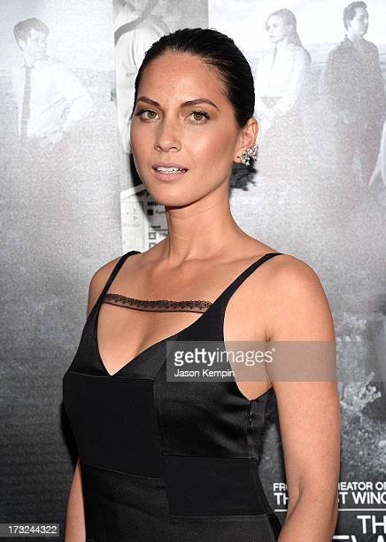 Actress Olivia Munn attends the premiere of HBO's The Newsroom Season 2 at Paramount Theater on the Paramount Studios lot on July 10 2013 in...