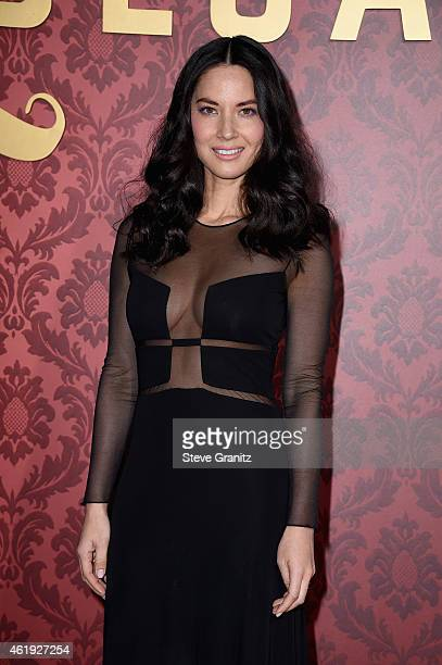 "Actress Olivia Munn attends the premiere of Lionsgate's ""Mortdecai"" at TCL Chinese Theatre on January 21, 2015 in Hollywood, California."