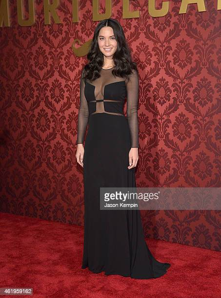 Actress Olivia Munn attends the premiere of Lionsgates's Mortdecai at TCL Chinese Theatre on January 21 2015 in Hollywood California