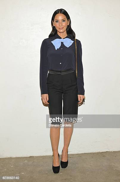 Actress Olivia Munn attends the premiere of 'Past Forward' a movie by David O Russell presented by Prada on November 15 2016 at Hauser Wirth Schimmel...