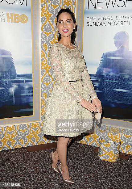 Actress Olivia Munn attends the premiere of The Newsroom at DGA Theater on November 4 2014 in Los Angeles California