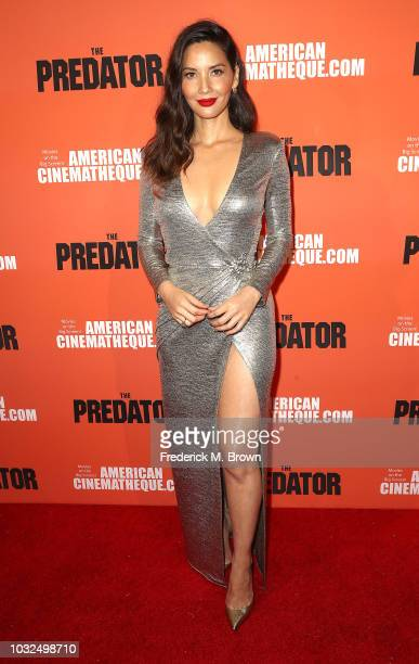 Actress Olivia Munn attends the Screening of 20th Century Fox's The Predator at the Egyptian Theatre on September 12 2018 in Hollywood California