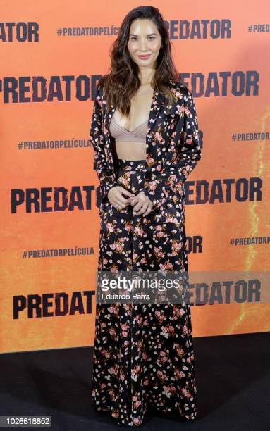 Actress Olivia Munn attends the 'The Predator' photocall at Villamagna hotel on September 4, 2018 in Madrid, Spain.