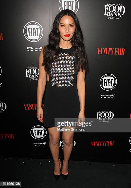 Actress Olivia Munn attends the Vanity Fair And FIAT Toast To 'Young Hollywood' at Chateau Marmont on February 23 2016 in Los Angeles California