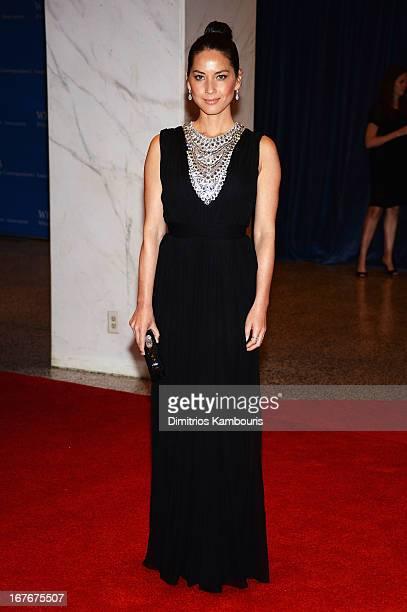 Actress Olivia Munn attends the White House Correspondents' Association Dinner at the Washington Hilton on April 27 2013 in Washington DC