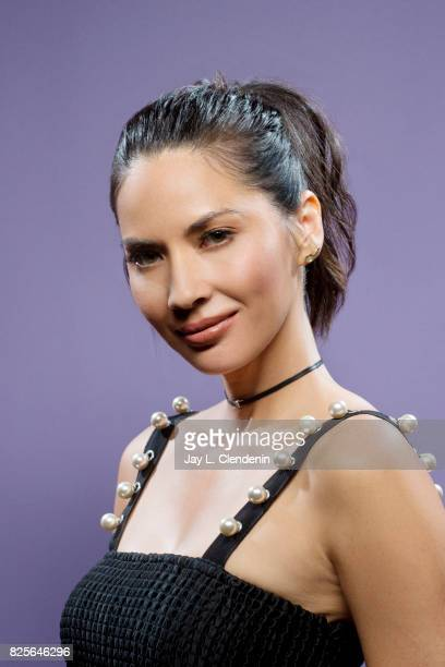 Actress Olivia Munn from the film 'The Lego Ninjago Movie' is photographed in the LA Times photo studio at ComicCon 2017 in San Diego CA on July 21...