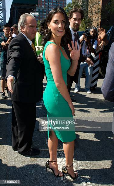 Actress Olivia Munn is seen around Lincoln Center during Spring 2013 MercedesBenz Fashion Week on September 12 2012 in New York City