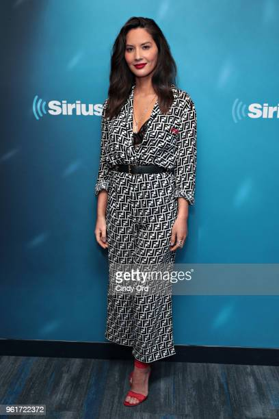 Actress Olivia Munn visits the SiriusXM Studios on May 23 2018 in New York City