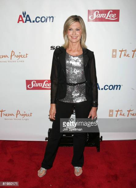 Actress Olivia Newton John attends the New York premiere of 'Sordid Lives The Series' at the New World Stages on July 15 2008 in New York City