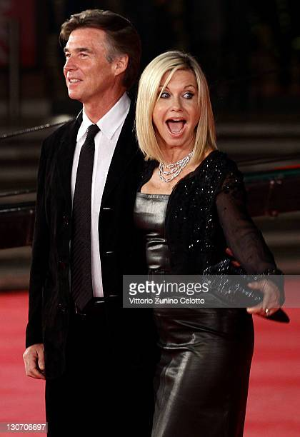 Actress Olivia NewtonJohn and John Easterling attend the 'A Few Best Man' premiere during the 6th International Rome Film Festival at Auditorium...