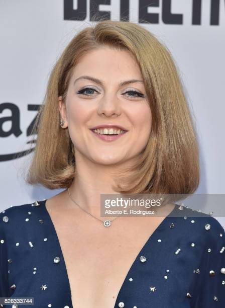 """Actress Olivia Nita attends the premiere of Amazon's """"Comrade Detective"""" at ArcLight Hollywood on August 3, 2017 in Hollywood, California."""
