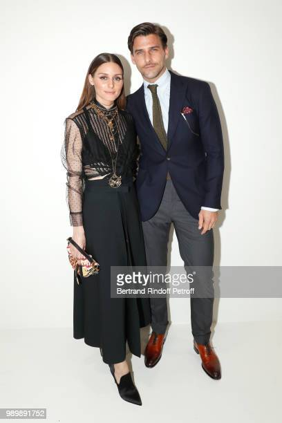 Actress Olivia Palermo and her husband model Johannes Huebl attend the Christian Dior Haute Couture Fall Winter 2018/2019 show as part of Paris...