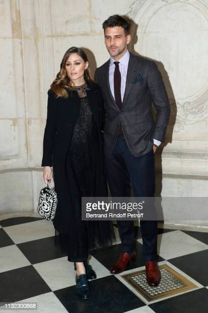 Actress Olivia Palermo and her husband model Johannes Huebl attends the Christian Dior show as part of the Paris Fashion Week Womenswear Fall/Winter...