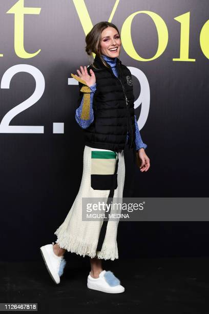 US actress Olivia Palermo arrives to attend the Moncler women's Fall/Winter 2019/2020 collection fashion show on February 20 2019 in Milan