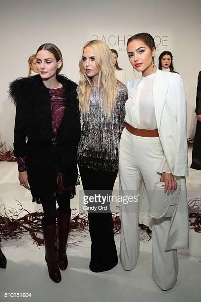 Actress Olivia Palermo Designer Rachel Zoe and Actress Olivia Culpo at thepresentation for Rachel Zoe Fall 2016 during New York Fashion Week The...
