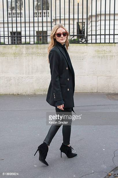 Actress Olivia Palermo on day 3 during Paris Fashion Week Autumn/Winter 2016/17 on March 3 2016 in Paris France