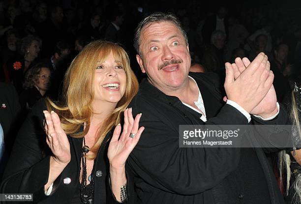 Actress Olivia Pascal and actor Joseph Hanneschlaeger attend 'The Who's Tommy' Premiere at Deutsches Theater on April 19 2012 in Munich Germany