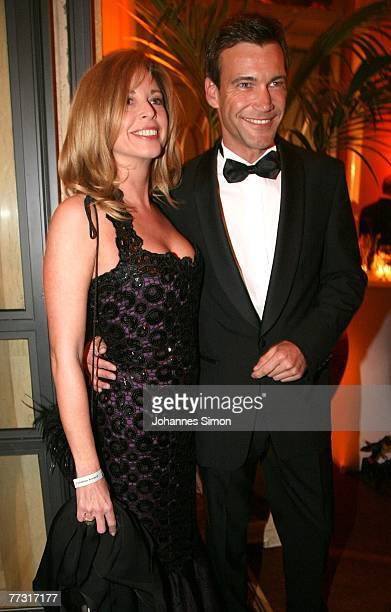 Actress Olivia Pascal and her boyfriend Peter Kanitz attend the Audi Generation Award at Hotel Bayerischer Hof on October 13, 2007 in Munich, Germany.