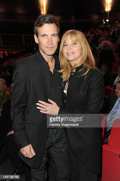 Actress Olivia Pascal and husband Peter Kanitz attend 'The Who's Tommy' Premiere at Deutsches Theater on April 19, 2012 in Munich, Germany.